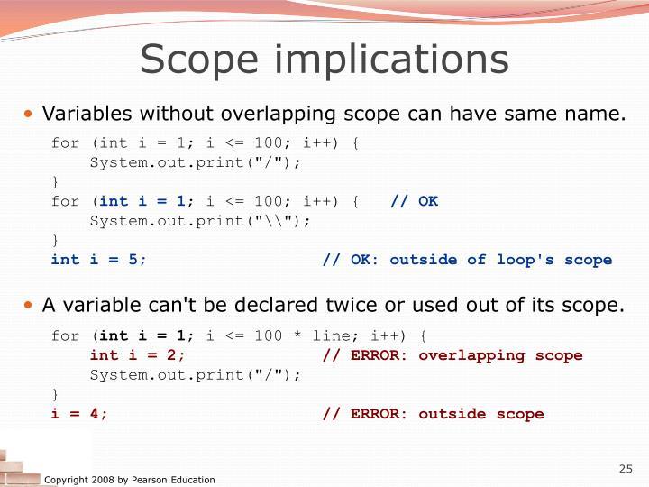 Scope implications