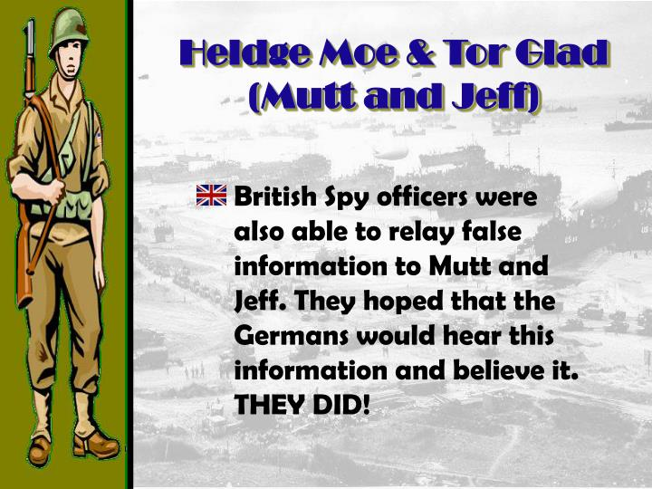 Heldge Moe & Tor Glad (Mutt and Jeff)