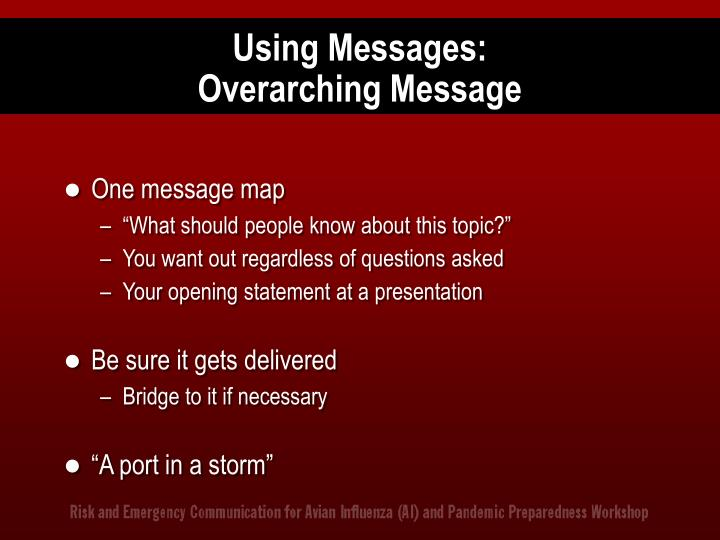 Using Messages: