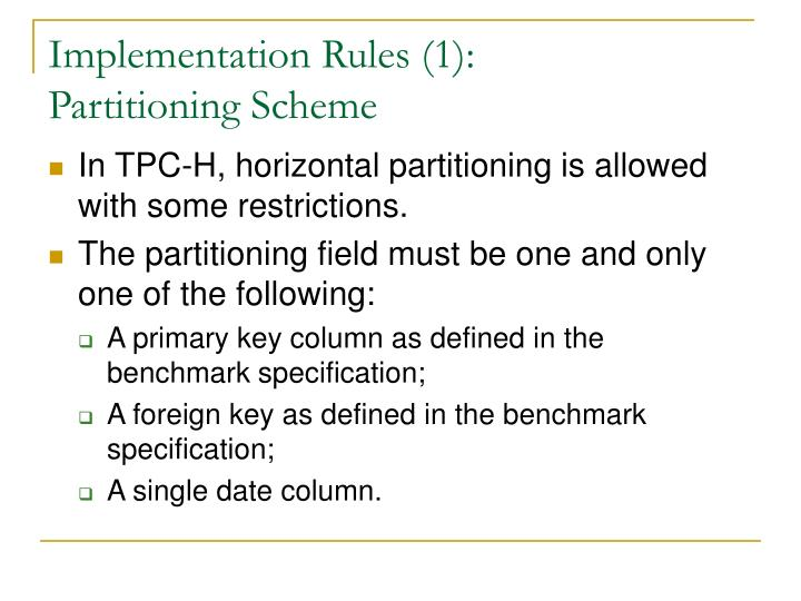 Implementation Rules (1):