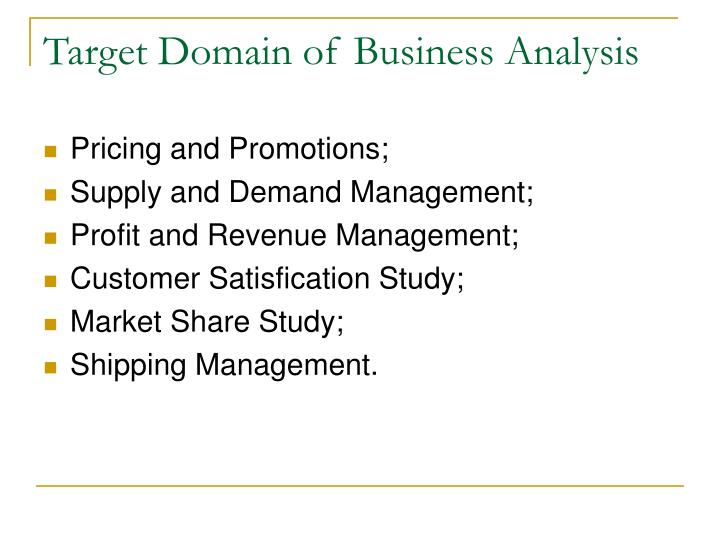 Target Domain of Business Analysis
