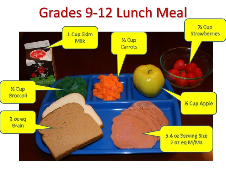 Grades 9-12 Lunch Meal