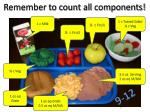 remember to count all components