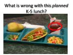 what is wrong with this planned k 5 lunch
