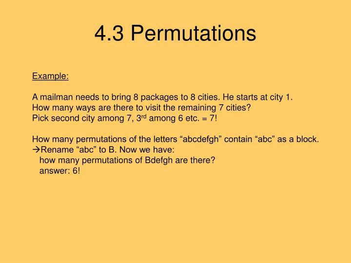4.3 Permutations