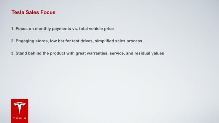 Tesla Sales Focus