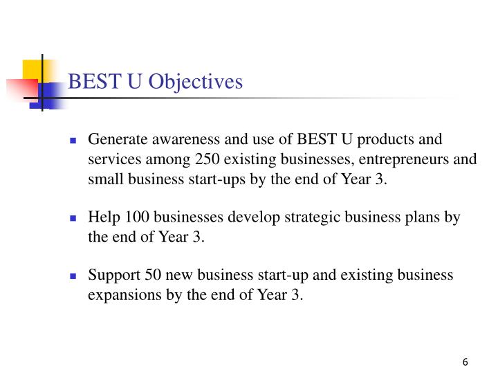 BEST U Objectives
