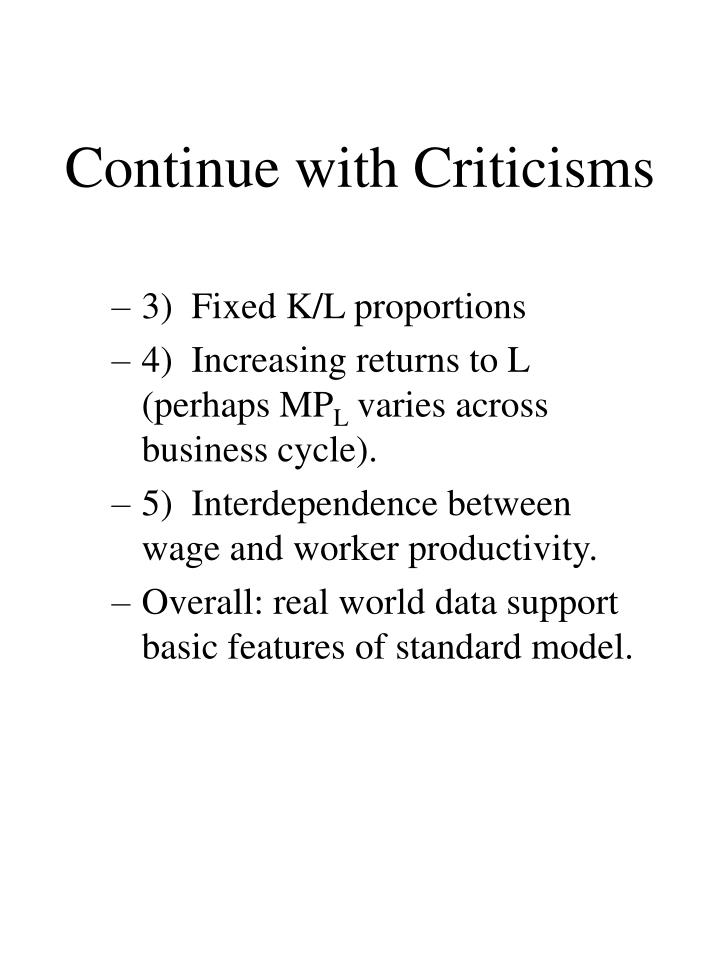 Continue with Criticisms