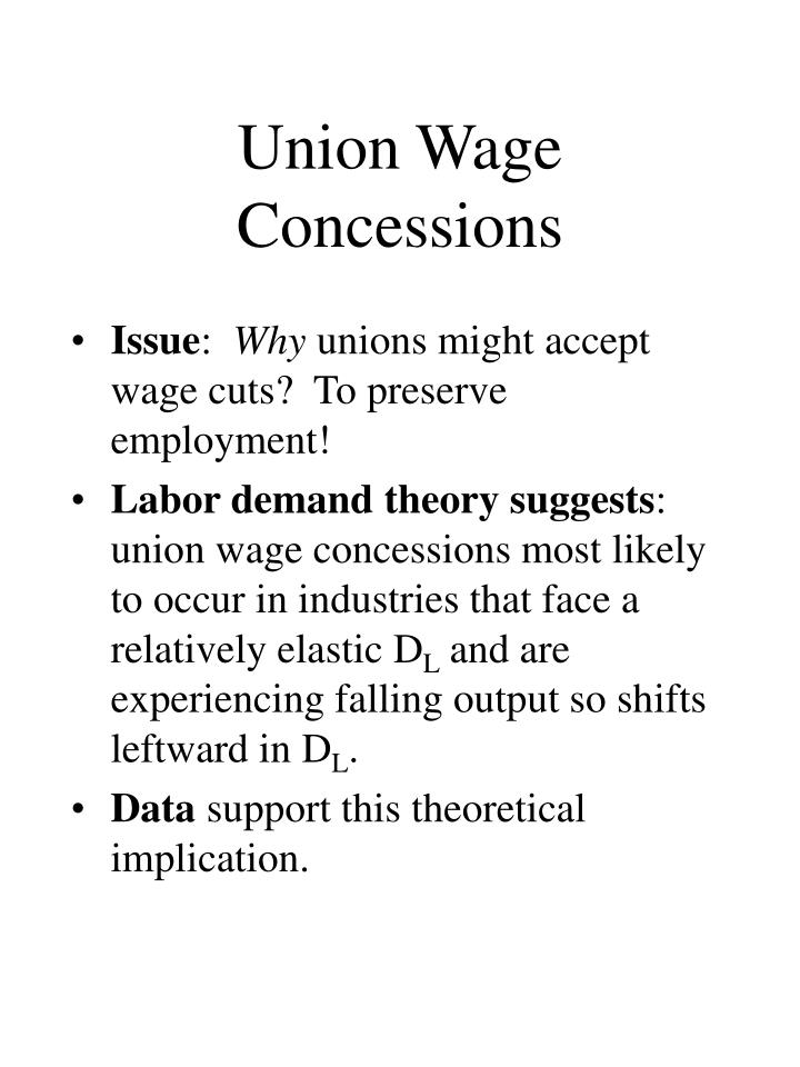 Union Wage Concessions