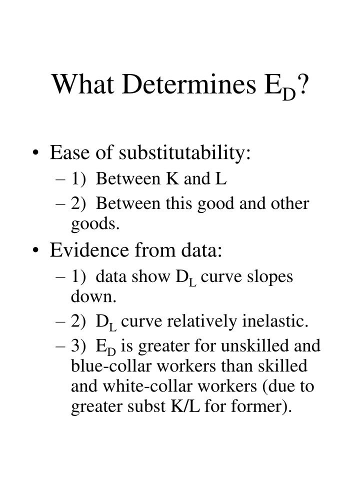 What Determines E