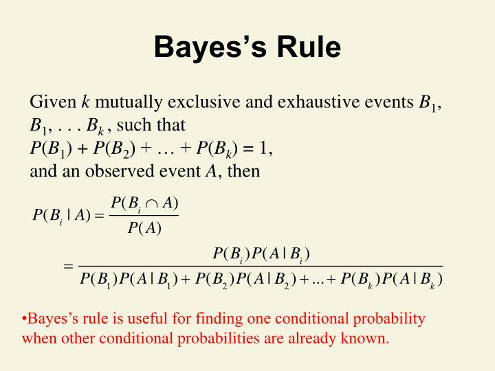 Bayes's Rule