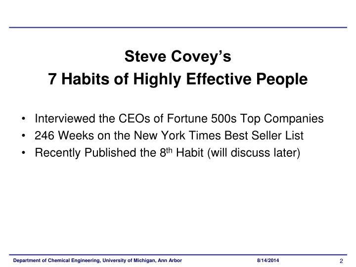 Steve Covey's