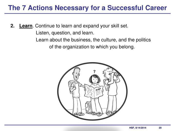 The 7 Actions Necessary for a Successful Career
