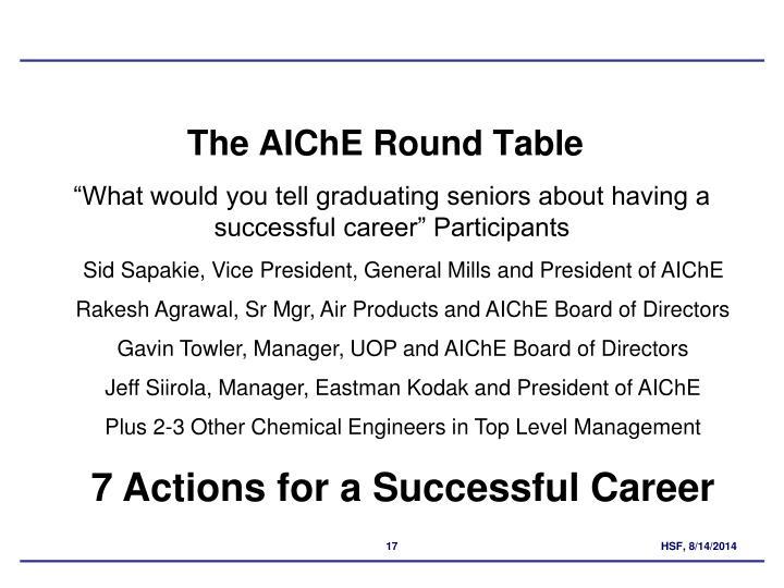 The AIChE Round Table