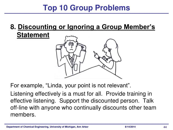 Top 10 Group Problems
