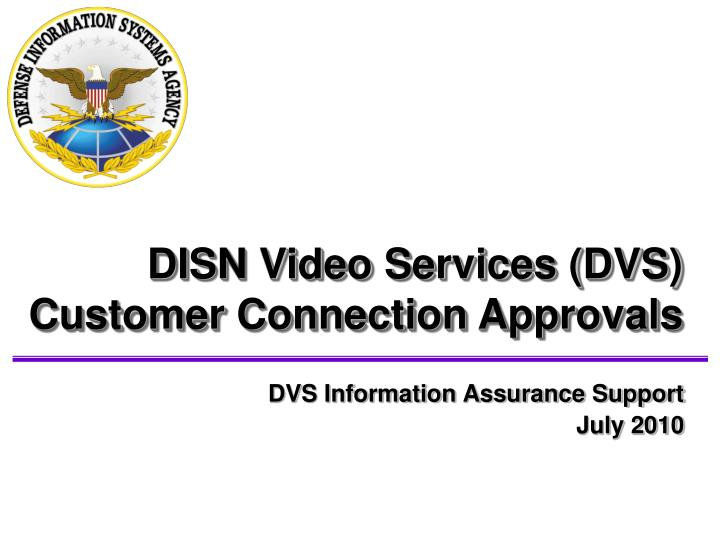 Dvs information assurance support july 2010
