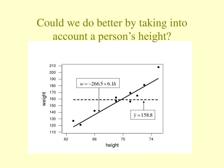Could we do better by taking into account a person's height?