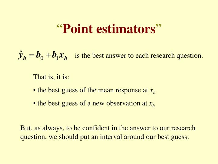 is the best answer to each research question.