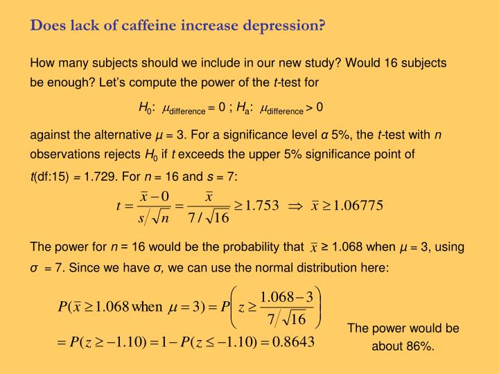 Does lack of caffeine increase depression?