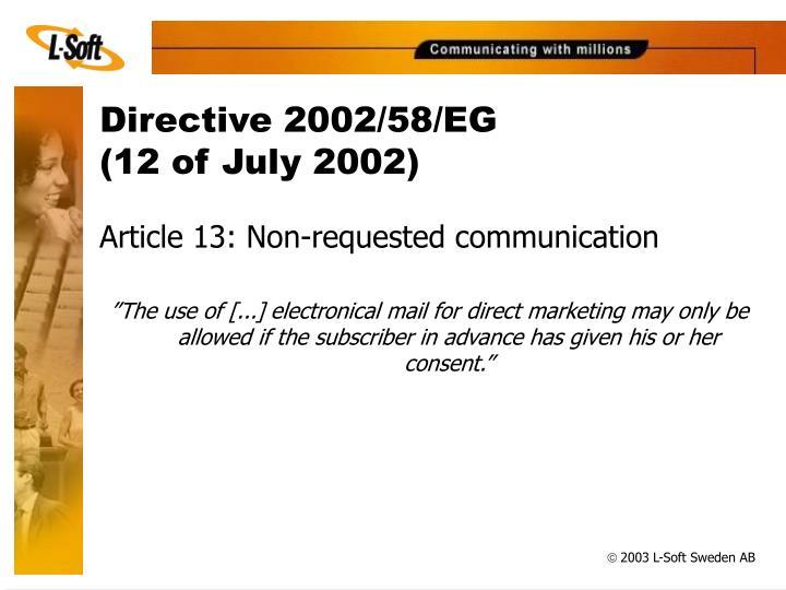 Directive 2002/58/EG
