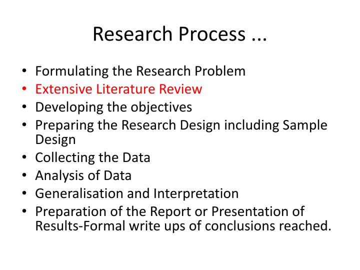 Research Process ...