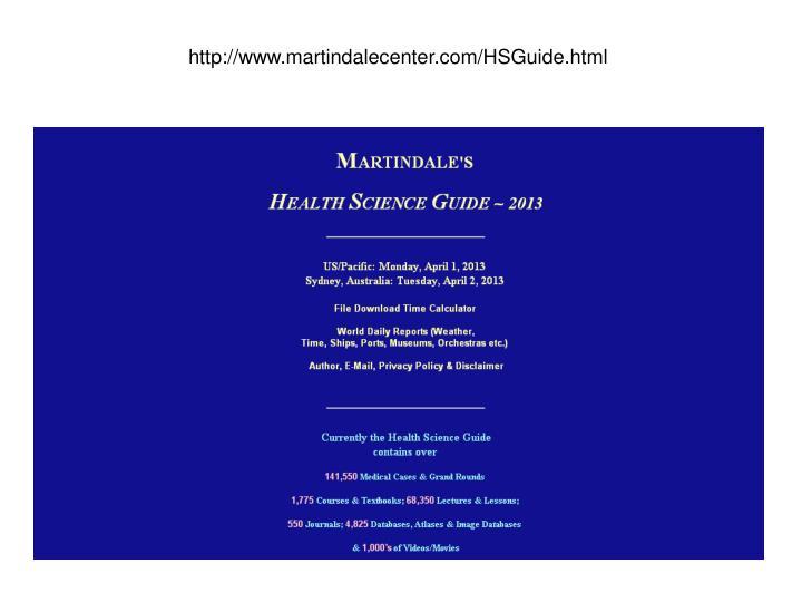 http://www.martindalecenter.com/HSGuide.html