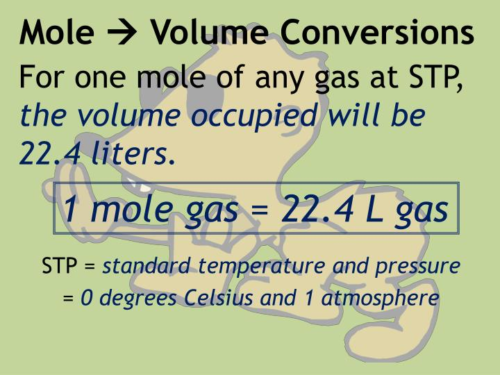 Mole volume conversions