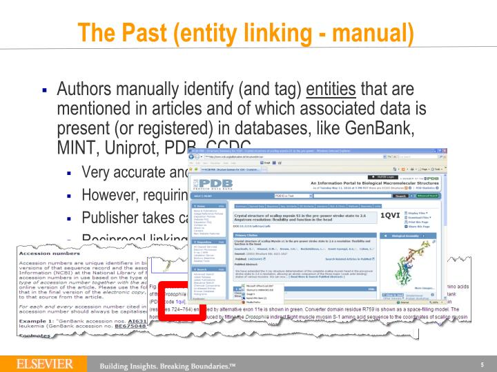 The Past (entity linking - manual)