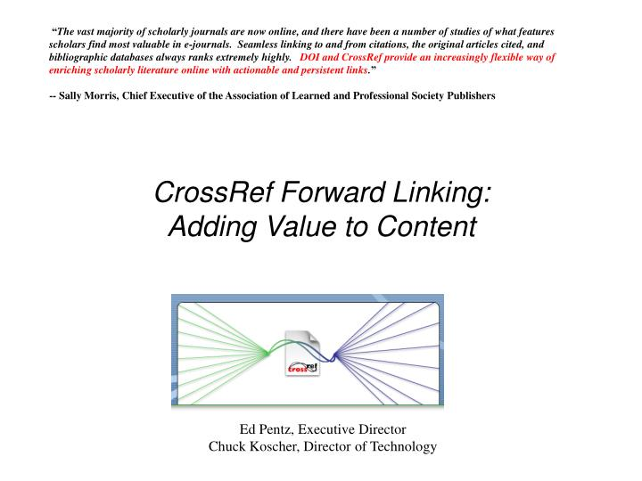 Crossref forward linking adding value to content