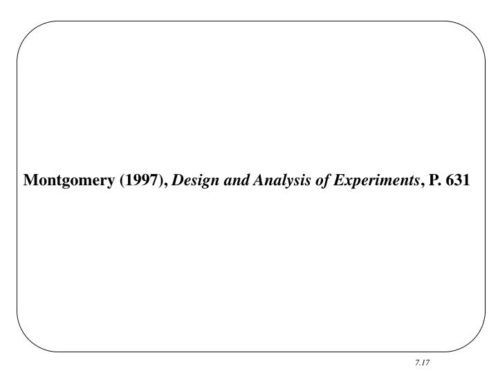 Montgomery (1997),