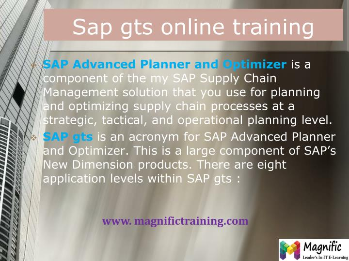 Sap gts online training1