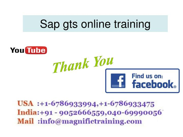 Sap gts online training