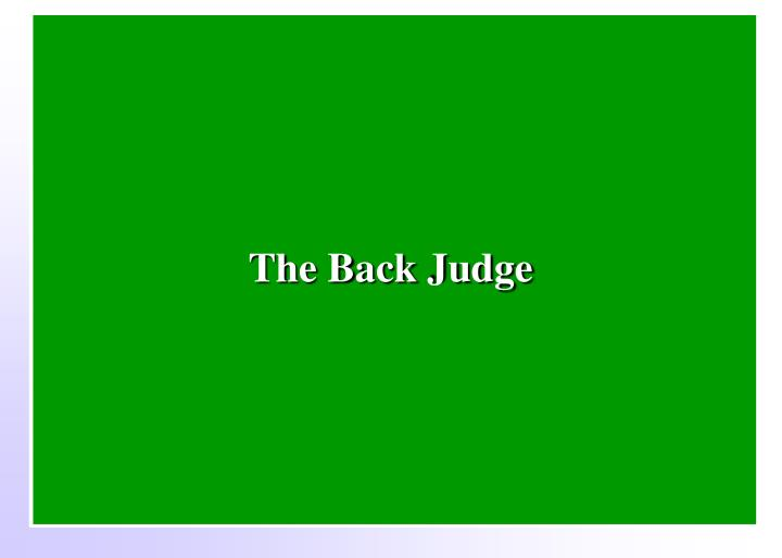 The Back Judge