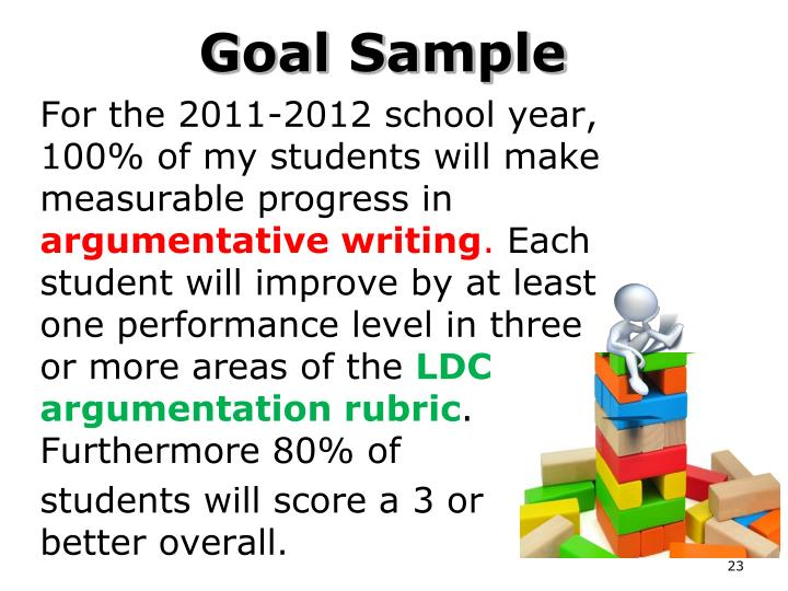 For the 2011-2012 school year, 100% of my students will make measurable progress in