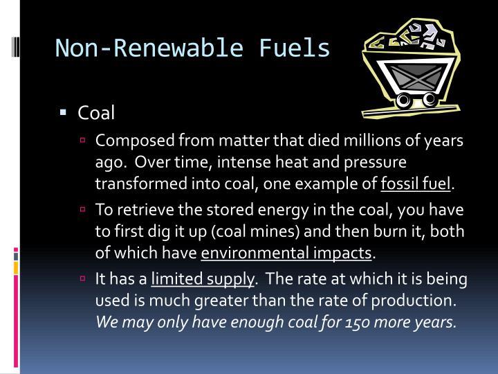 Non-Renewable Fuels