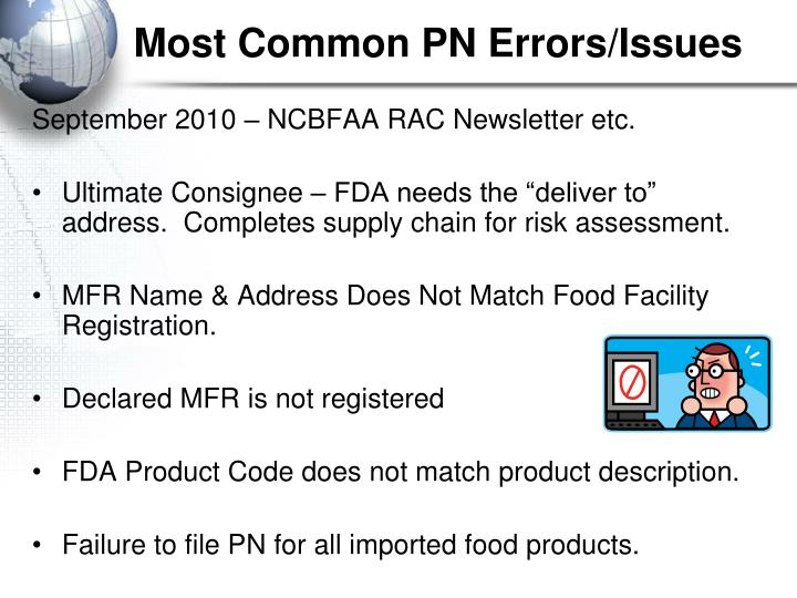 Most Common PN Errors/Issues