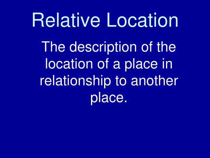 Relative Location