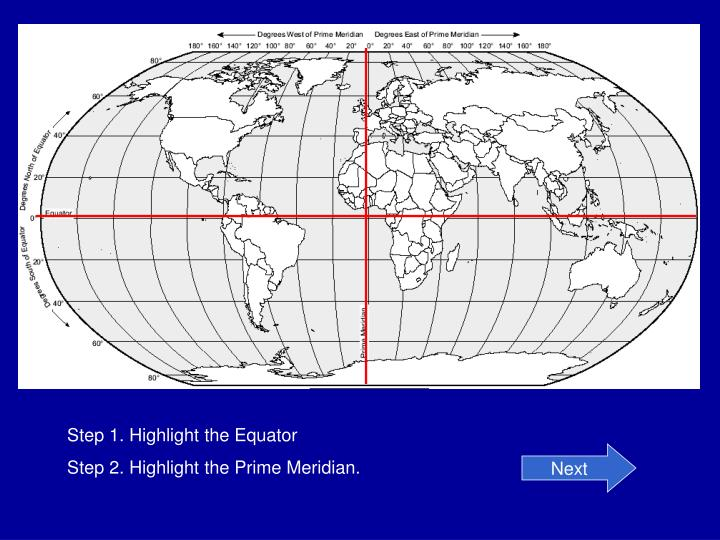 Step 1. Highlight the Equator