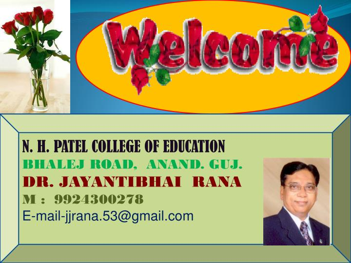 N. H. PATEL COLLEGE OF EDUCATION