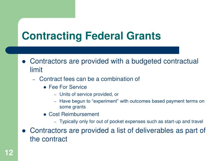 Contracting Federal Grants