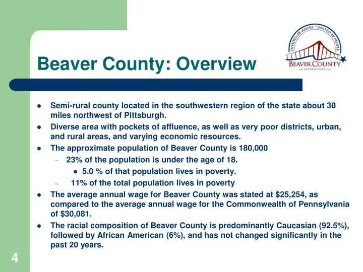 Beaver County: Overview