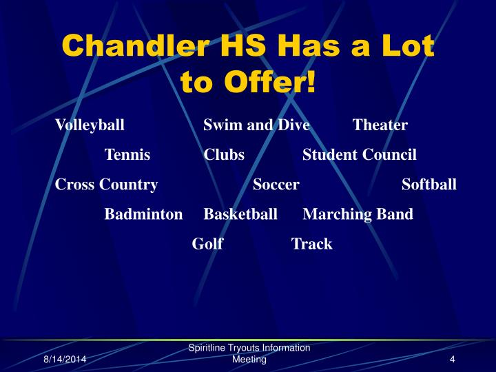 Chandler HS Has a Lot to Offer!