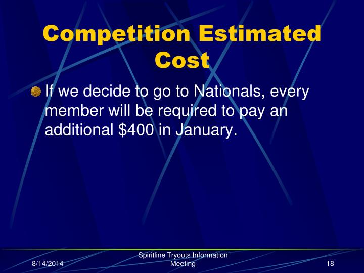 Competition Estimated Cost