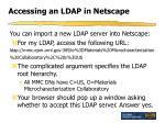 accessing an ldap in netscape