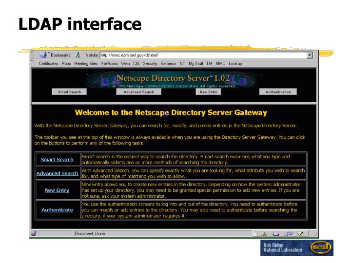 LDAP interface