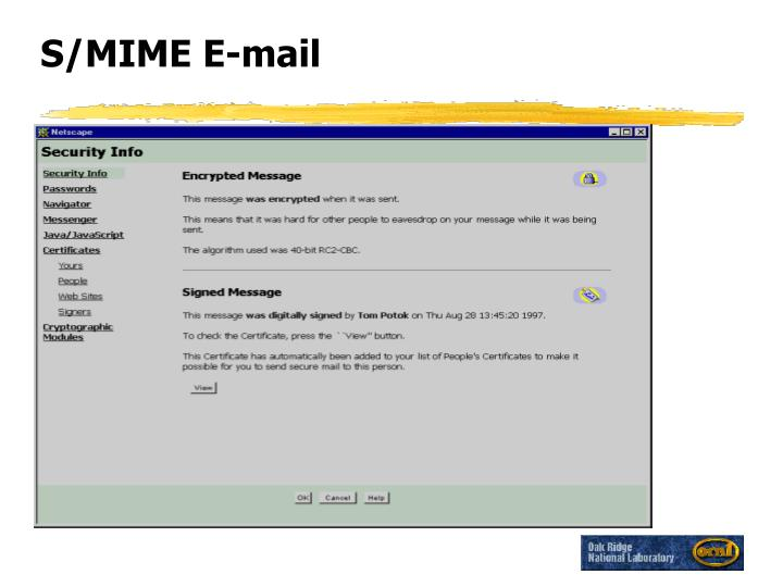 S/MIME E-mail