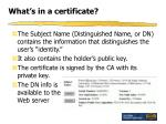 what s in a certificate