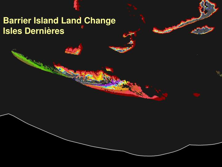Barrier Island Land Change