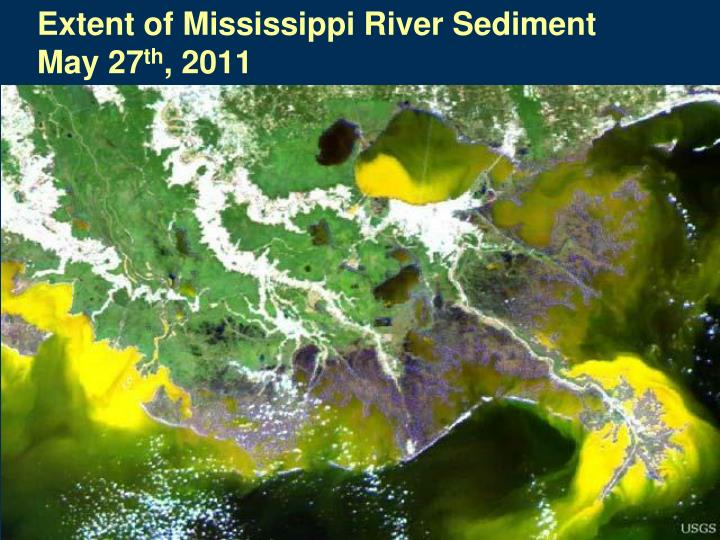 Extent of Mississippi River Sediment
