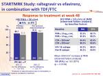 startmrk study raltegravir vs efavirenz in combination with tdf ftc2
